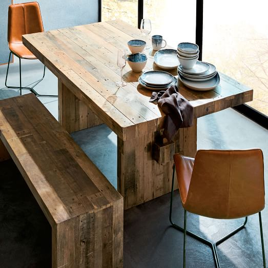 Emmerson Reclaimed Wood Dining Table, Reclaimed Lumber Furniture