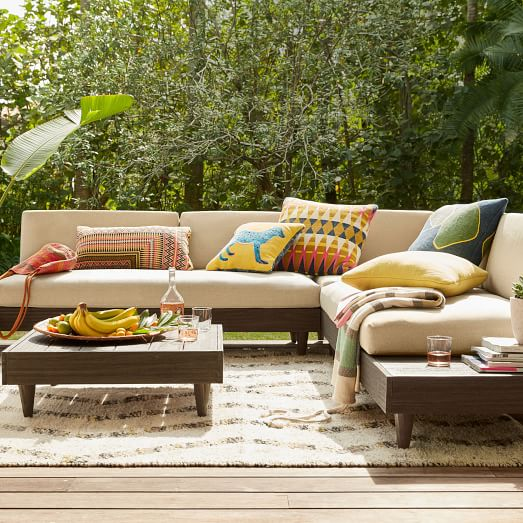 Portside Outdoor Low Coffee Table, West Elm Outdoor Furniture