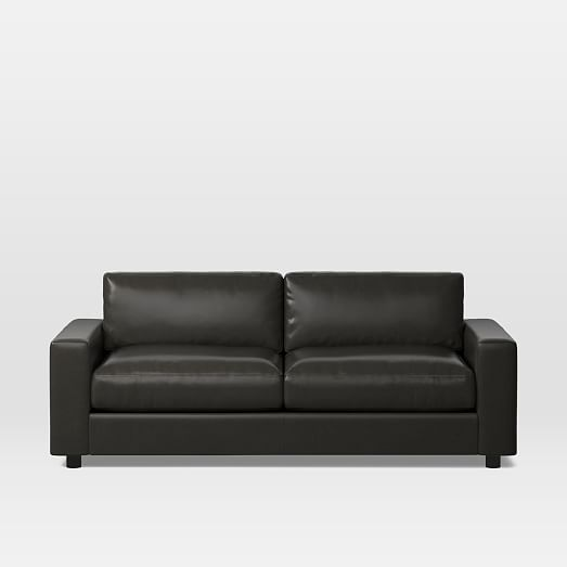 Urban Leather Sleeper Sofa, Black Leather Sofa Bed Couch