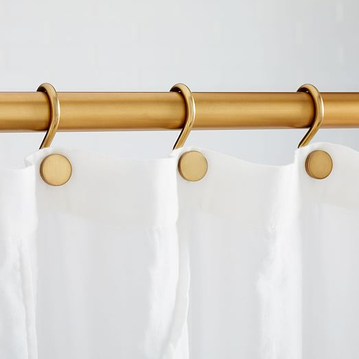 Modern Shower Curtain Rings Set Of 12, Shower Curtain With Rings