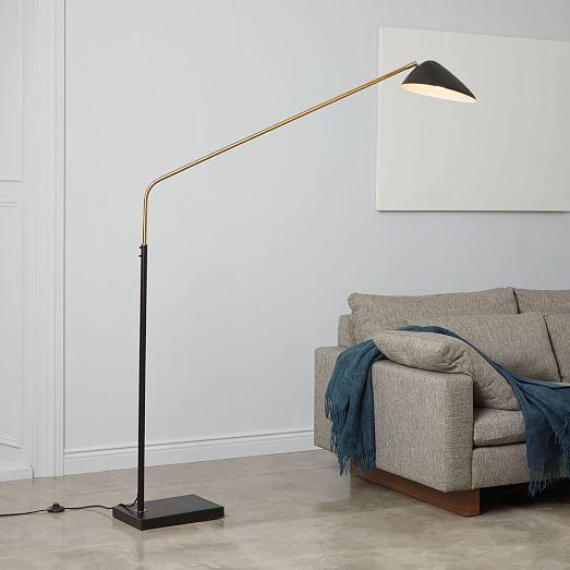 Overarching Curvilinear Mid Century Floor Lamp