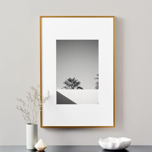 Easel Frame Brushed Black metallic finish Art Frame Desk Frame Photo Picture Frame Wall Frame