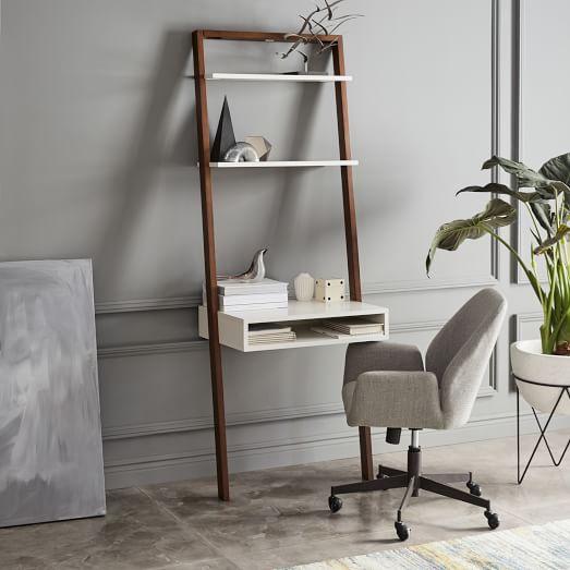 Ladder Shelf Desk, Ladder Shelf Storage Desk