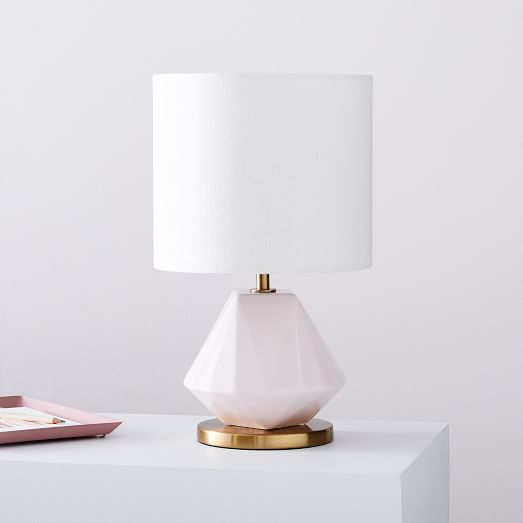 Faceted Porcelain Table Lamp Small, Porcelain Table Lamp