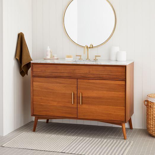 Mid Century Single Bathroom Vanity 49 Acorn