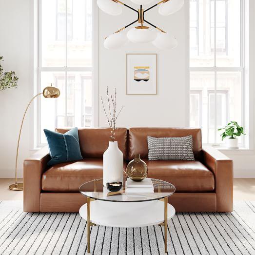 Urban Leather Sofa, Camel Leather Sofa