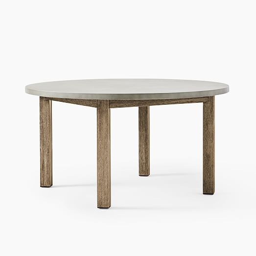 Concrete Outdoor Round Dining Table 60, Concrete Round Dining Table For 6