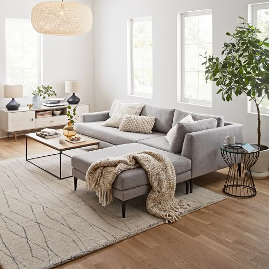 Andes 3 Piece Chaise Sectional, Living Room Sectional