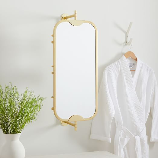 Swivel Vanity Mirror W Storage, Swivel Bathroom Mirror