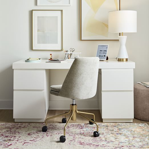 Parsons 2 File Cabinets & Desk Set