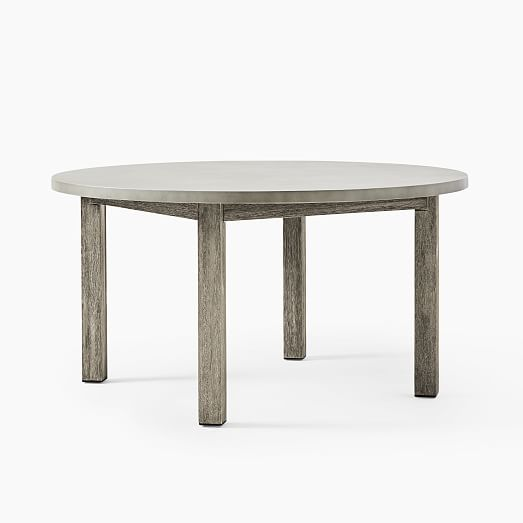 Concrete Outdoor Round Dining Table 60, 60 Round Outdoor Dining Table