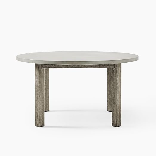 Concrete Outdoor Round Dining Table 60, Concrete Round Dining Table Outdoor