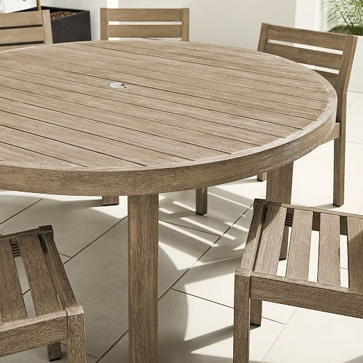 Portside Outdoor 60 Round Dining Table, 60 Round Outdoor Dining Table