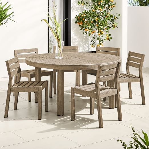 Portside Outdoor 60 Round Dining Table, Round Outdoor Dining Tables