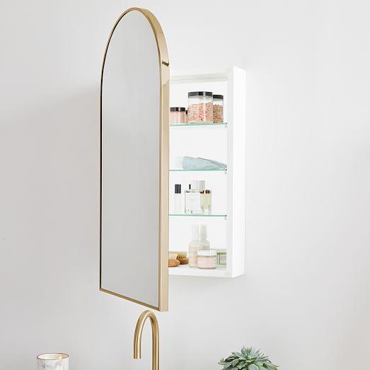 Arched Metal Framed Medicine Cabinet, Bathroom Mirrors Medicine Cabinets