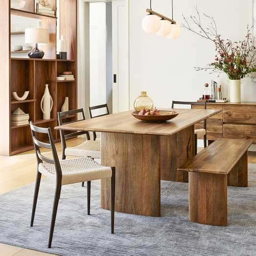 Anton Solid Wood Dining Table, Solid Wood Dining Room Sets