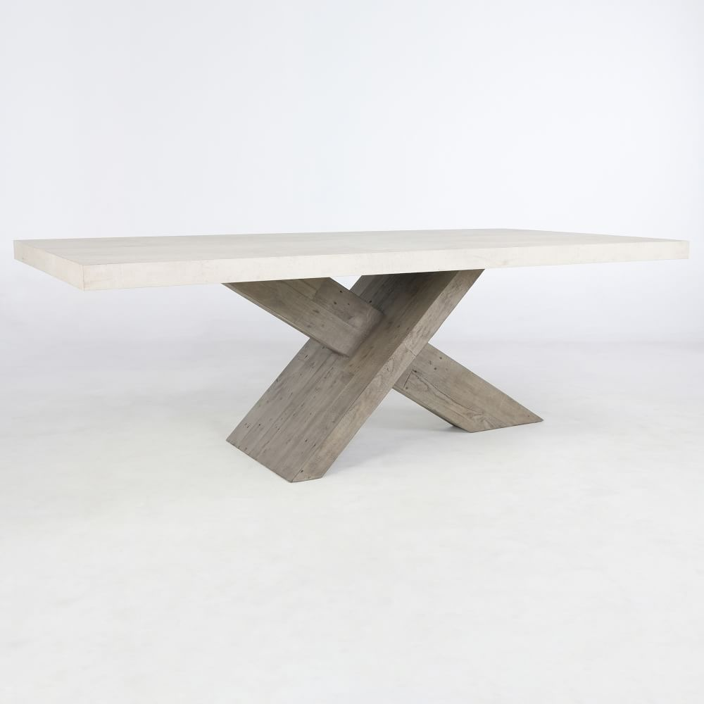 X Base Dining Table, X Base Dining Room Table