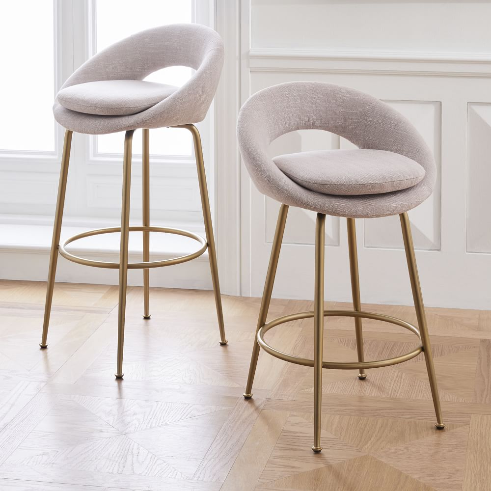 Orb Upholstered Bar & Counter Stools